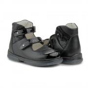 Детские ортопедические туфли Memo Princessa 3LY черные школьные (р.27-31)
